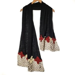 Pretty Persuasions Floral Applique Scarf